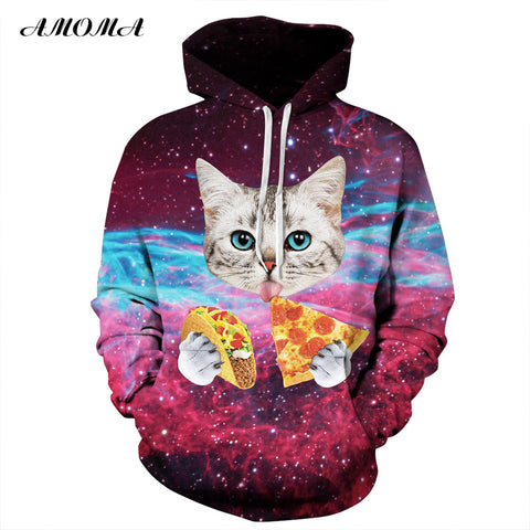 Pizza Taco Cat Pullover Hoodies