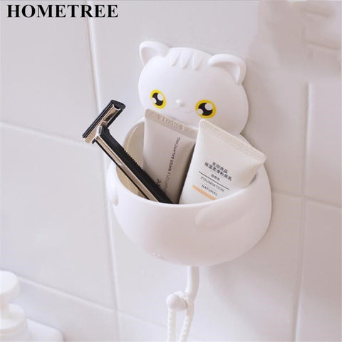 Self-Adhesive Cat Design Storage Holder