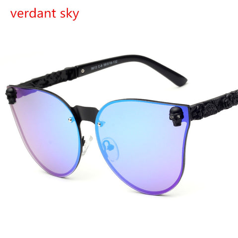 Skull And Colors Cat Eye Sunglasses
