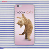 Funny Yoga Cats Soft TPU Case For iPhone iPhone X 8 5 SE 5S 6 6S 7 Plus