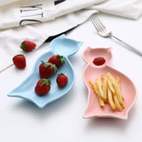 Cat Shaped Porcelain Food Plate
