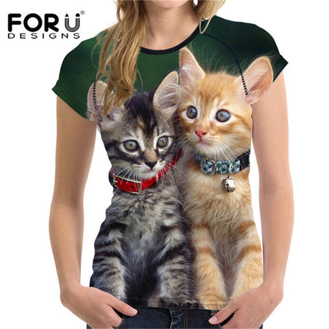 Cute Cat Faces Or Customize Your Cat On T-Shirt