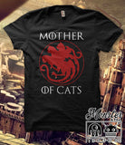 Mother Of Cats Cotton T-shirt Men/Women In Many Designs