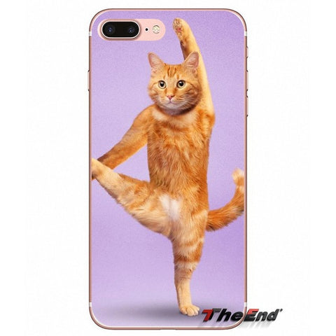 Yoga Cats Case For iPhone X 4 4S 5 5S 5C SE 6 6S 7 8 Plus Samsung Galaxy J1 J3 J5 J7 A3 A5 2016 2017