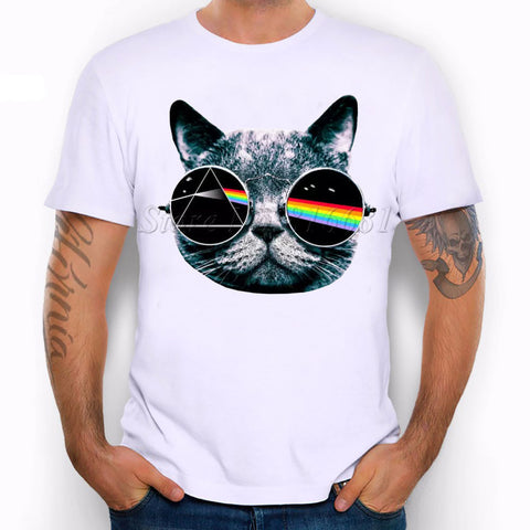 Pink Floyd Dark Side Of The Moon Cat With Sunglasses T-Shirt