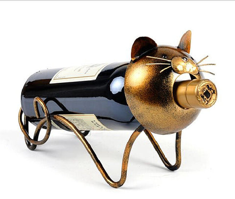 Cat Wine Bottle Holder Rack - Cats Love Life