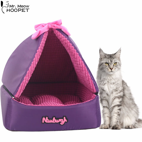 Collapsible Tent Cat Bed With Removable Cover - Cats Love Life