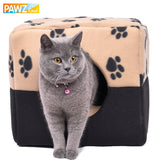 Paw Pattern Soft Cat Home Bed - Cats Love Life