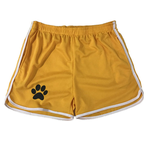Mens Mesh Shorts With A Paw Print