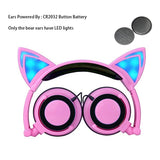 Cat Ear Headphones With LED Light