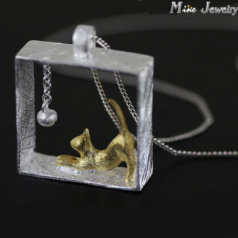 Frozen Moment Cat Pendant - Cats Love Life
