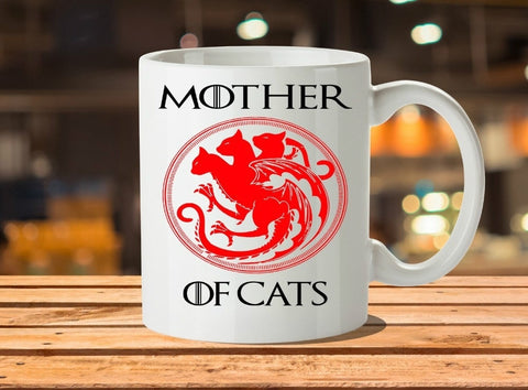 Mother of Cats Game of Thrones Mugs Travel Beer Porcelain Coffee Mug