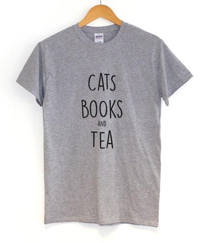 Cats, Books and Tea T-Shirt