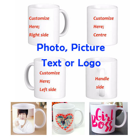 Custom Picture 11OZ White Mugs Personalized With Any Image You Provide - Cats Love Life