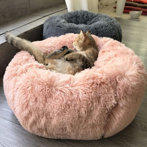 Plush And Super Soft Round Cat Cushion