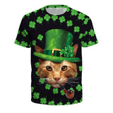 Funny Green Hat Cat St. Patrick's Day T-Shirts
