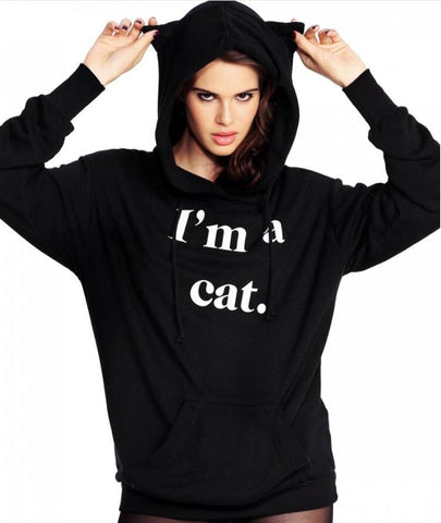 I'm A Cat Hoodie With Cat Ears