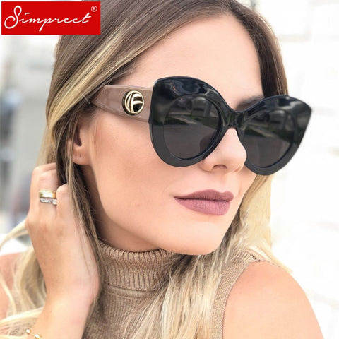 Big Cat Eye Sunglasses Oversized Retro