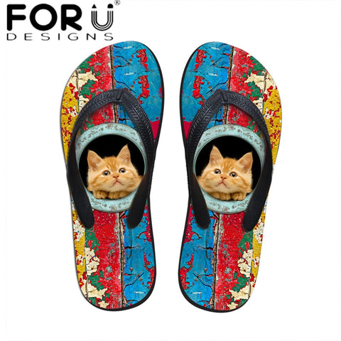 Ready For The Beach Cat Flip Flops