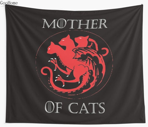Mother Of Cats Wall Tapestry Beach Towel Throw Blanket