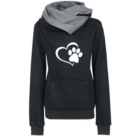 Cotton Cat Paw Print Hoodies