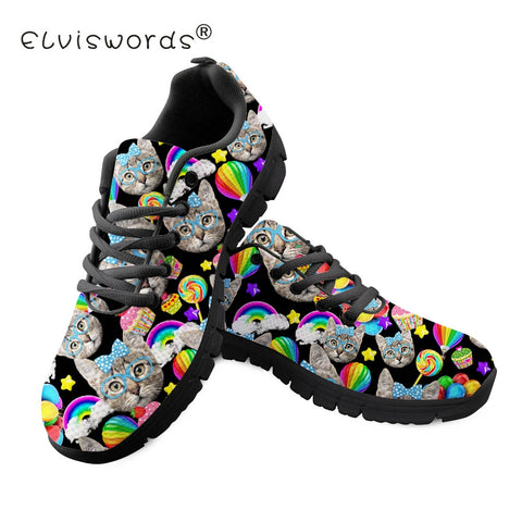 Cat Flats Rainbow Balloon Comfortable Walking Shoe