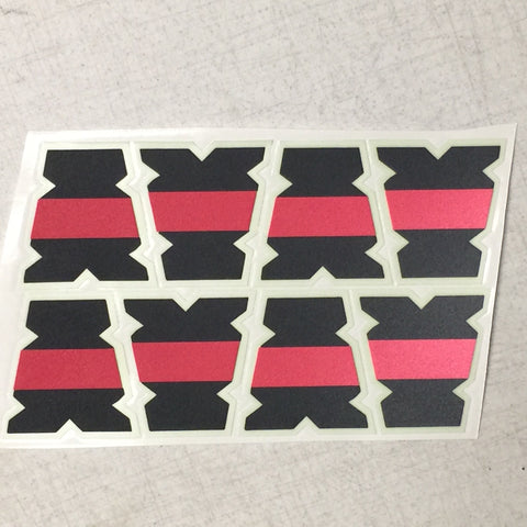 IdentiFire® Gen 2 Thin Red Line Series Tets (RFB) (Set of 8) (Free Shipping!)