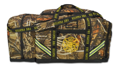 Lightning X Premium Camouflage 3XL Firefighter Step-In Gear Bag w/ Helmet Compartment