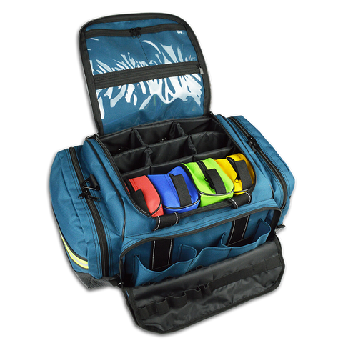 Premium Large Modular EMT Trauma Bag w/ Removable Color-Coded Pouches