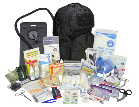 Lightning X Modular Tactical Medic Backpack + Hydration with Medic Fill Kit