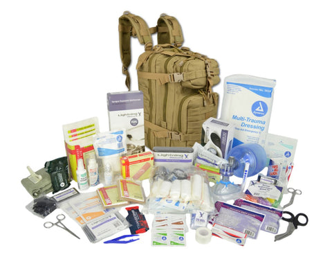 Lightning X Small Tactical Assault Backpack with Trauma & Bleeding Medic Fill Kit