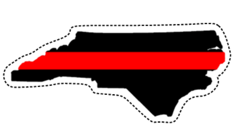 Thin Red Line (NC) Sticker (Free Shipping!)