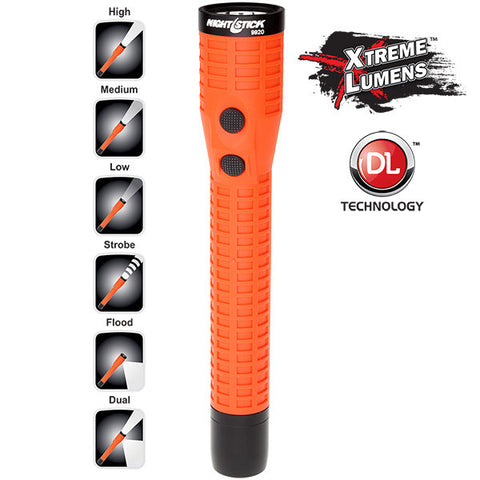 Xtreme Lumens Polymer Duty/Personal-Size Dual-Light™ Flashlight w/Magnet - Rechargeable