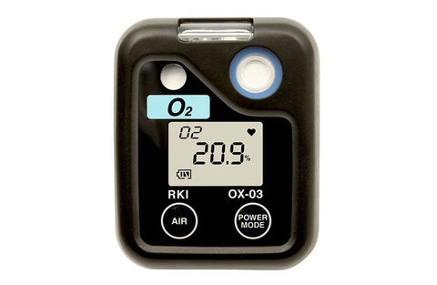 RKI O3 Series Single Gas Personal Monitor - O2 Oxygen