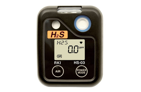 RKI O3 Series Single Gas Personal Monitor - H2S Hydrogen Sulfide