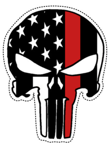 Thin Red Line Punisher Sticker (Free Shipping!)