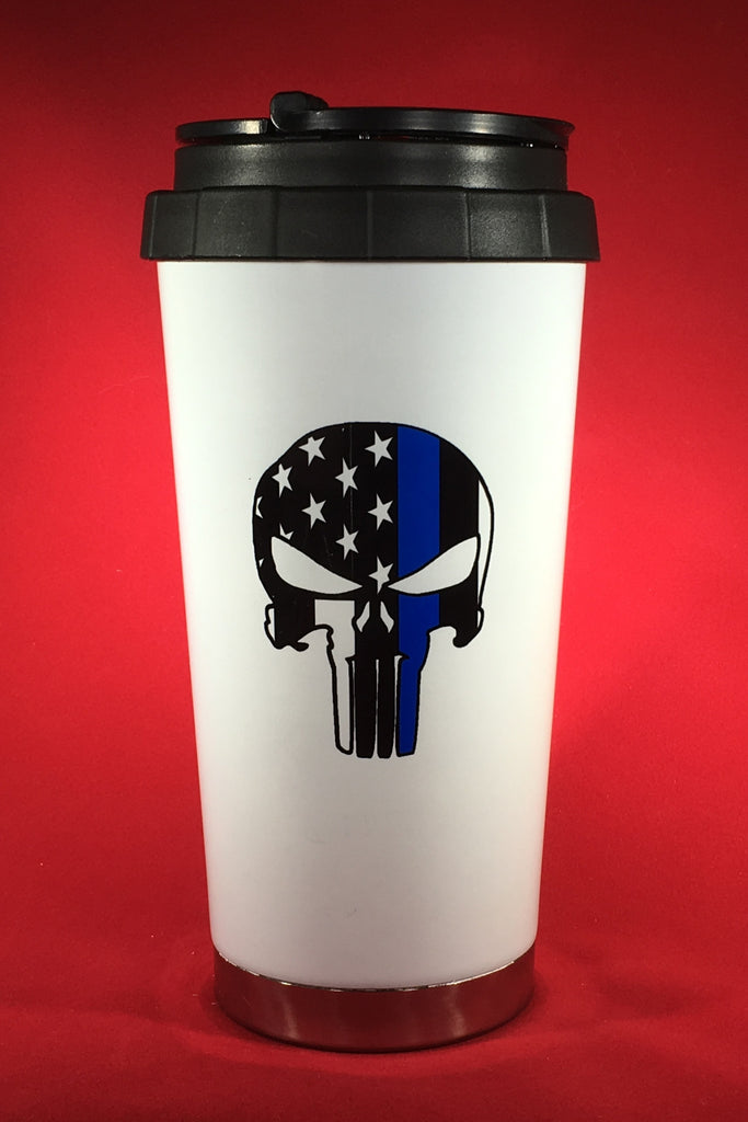 Thin Blue Line Punisher Drinkware