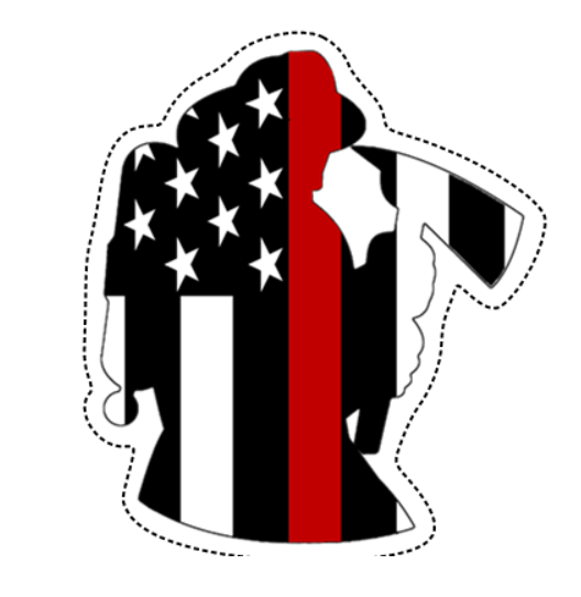 Thin Red Line Firefighter Sticker (Free Shipping!)
