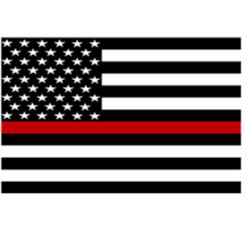 Thin Red Line Flag Sticker (Free Shipping!)