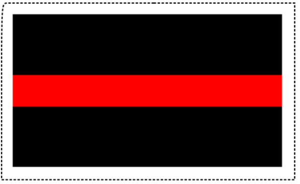 Thin Red Line Sticker (Free Shipping!)