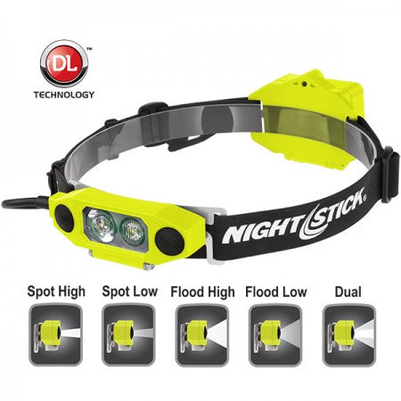 DICATA™ Intrinsically Safe Low-Profile Dual-Light™ Headlamp