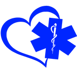 Heart with Maltese or Star of Life (Free Shipping!)