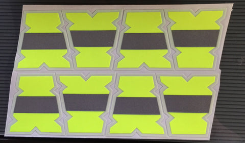IdentiFire® Gen 2 Neon Yellow/Silver Bar Tets (Set of 8) (Free Shipping!)