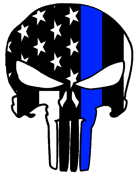 Thin blue line punisher sticker free shipping