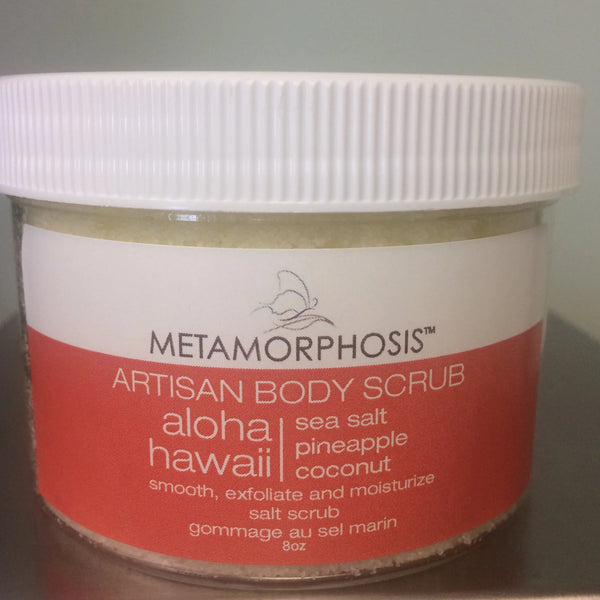Aloha Hawaiian Salt Scrub with Pineapple