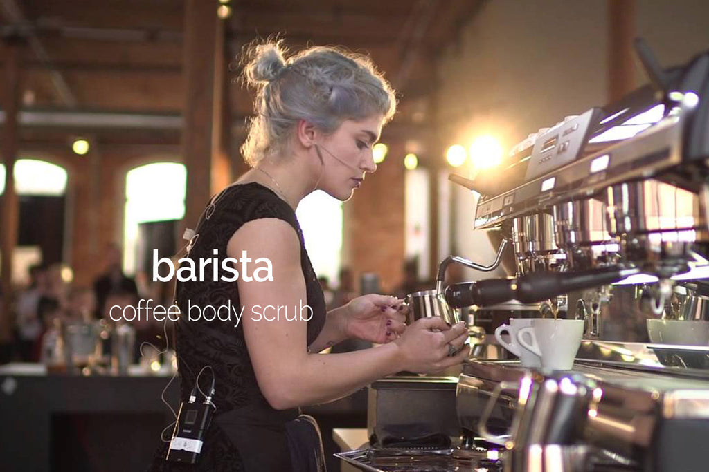 barista coffee vanilla & maple scrub