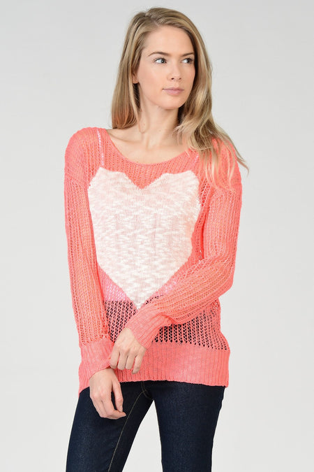 Ruffle Edge Sweater Top