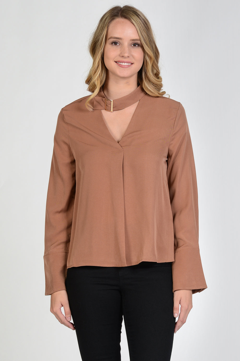 Buckled Neck Blouse