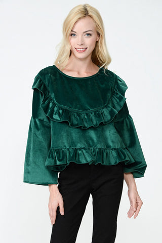 Tabi Frill Crop Top
