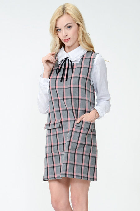 Gingham Shirt Sweater Top